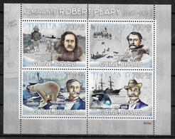 GUINEE BISSAU  Feuillet  N° 2837/40 * * ( Cote 16e ) Robert Peary Ours Polaires Orque Bateaux - Explorateurs