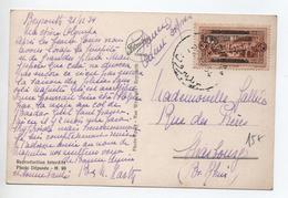 1934 - CP De BEYROUTH (LIBAN) Pour STRASBOURG - Liban