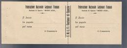 Federazione Nazionale Legionari Fiumani Sezione Di Spezia Maio Asso Lotto 2353 - Biglietti Consorziale