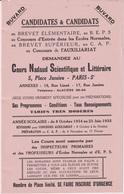 COURS NADAUD SCIENTIFIQUE ET LITTERAIRE - BUVARD PUBLICITAIRE - Buvards, Protège-cahiers Illustrés