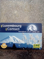 LUXEMBOURG PREPAID CONTACT MONTAGNE MOUNTAIN 120U (290F) UT VALID 01.01.2002 - Montañas