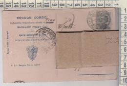 STORIA POSTALE PUBBLICITARIA 1928 BAGALADI REGGIO CALABRIA E. CONDO' INDUSTRIA LEGNAME - 1900-44 Victor Emmanuel III