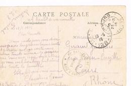 Mont Saint Eloi L'église  Avec Cachet 44 Bataillon De Chasseurs à  Pied 1915 - Postmark Collection (Covers)