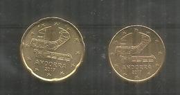 Andorra Euro Coins (2)  Brand New, Perfect, Year 2017 - Andorra