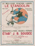 LE STANDOLIN PEINTURE ETAB. SOUDEE - BUVARD PUBLICITAIRE - Buvards, Protège-cahiers Illustrés