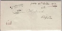 Bayern - R4 München 1812, L2 A. Dienstbrief N. Dietfurth, Inhalt/Briefkopf !! - Deutschland