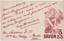 SAVON 3 - 33 - BUVARD PUBLICITAIRE - Buvards, Protège-cahiers Illustrés