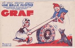 MONTRE GRAF - BUVARD PUBLICITAIRE - Buvards, Protège-cahiers Illustrés