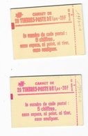 Carnets 1973 C1, 2 Couleurs De Couverture Différentes Les 2 Carnets - Standaardgebruik