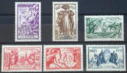 N°160 à 165 EXPOSITION INTERNATIONALE DE PARIS EN 1937 COTE 18 € NEUFS * MH. TB - Unused Stamps