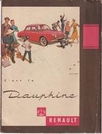 PROTEGE CAHIER RENAULT DAUPHINE - Automobile