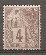 COL - Yt. N°48  ** MNH  4c  Alphée-Dubois  Cote  6  Euro  TBE   2 Scans - Alphee Dubois