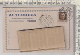 TERNI STORIA POSTALE PUBBLICITARIA 1931 ALTEROCCA STABILIMENTI POLIGRAFICI - 1900-44 Victor Emmanuel III