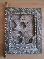 Moroccan Jews Wooden Window Shutter With David Star - Art Africain