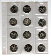 LIBERIA SERIE 5 DOLLARS 1997 CN UNC 12 STUKS ASTROLOGIE CHINESE DIERENRIEM - Liberia