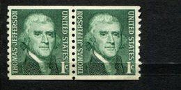 965504093 SCOTT 1299 POSTFRIS MINT NEVER HINGED EINWANDFREI (XX) - PAIR THOMAS JEFFERSON - Vereinigte Staaten