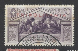 Italia - Tripolitania - 1934 - Usato/used - Virgilio - Sass N. 82 - Tripolitaine