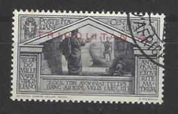 Italia - Tripolitania - 1934 - Usato/used - Virgilio - Sass N. 78 - Tripolitaine