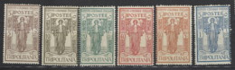 Italia - Tripolitania - 1926 - Nuovo/new MNH - Istituto Coloniale Italiano - Sass N. 33/38 - Tripolitaine