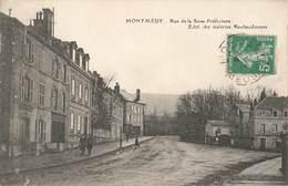 55 Montmedy Rue De La Sous Prefecture Cpa Cachet Montmedy 1914 - Montmedy