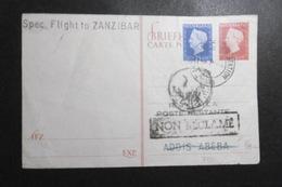 Niederlande Mi.s.scan GA Karte Als Flugpostkarte Büge 1948 Nach Zansibar & Retour - Periode 1891-1948 (Wilhelmina)