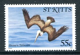 St Kitts 1981-82 Birds - Imprint Date - 55c Pelican MNH (SG 66B) - St.Kitts E Nevis ( 1983-...)
