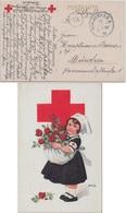 DR - Nürnberg 1918 Rotes Kreuz Mädchen M. Rosen Feldpostkarte N. München - Germania