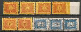 INDOCHINE  TAXE N° 75 à 83 NEUF(*) Sans Gom Et SANS CHARNIERE - Indochine (1889-1945)