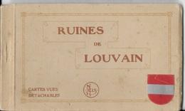 BELGIQUE - LOUVAIN-  Carnet De 10 Cartes Postales Des Ruines De Louvain - Belgium