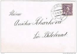 35261. Carta LAZNE BELONRAD (Checoslovaquia) 1936, Interior - Czechoslovakia