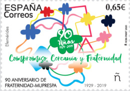 España. Spain. 2020. 90 Aniv. De La FRATERNIDAD-MUPRESPA (1929-2019) - 1931-Heute: 2. Rep. - ... Juan Carlos I