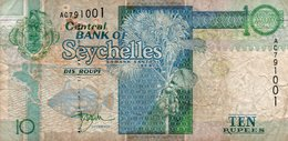 SEYCHELLES 10 RUPEES 1998 P-36a Circ AC 791001 - Seychellen