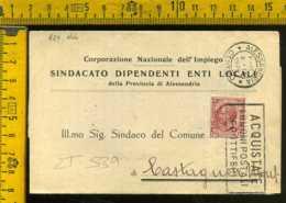 Regno Annullo A Targhetta Alessandria Poste Propaganda Postale - Poststempel