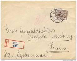 36253. Carta Certificada TACHOV (Checoslovaquia)  1928. Hotel Explanade - Czechoslovakia