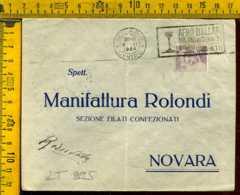 Regno Annullo A Targhetta Milano Afro Ballari - Poststempel