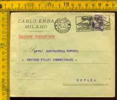 Regno Annullo A Targhetta Milano Ettore Moretti - 1900-44 Victor Emmanuel III