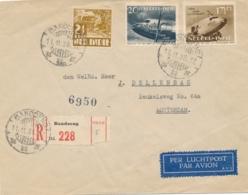 Nederlands Indië - 1938 - Luchtvaartserie + 2,5 Cent Op LP R-cover Van LB Bandoeng Naar Rotterdam / Nederland - Netherlands Indies