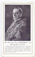 Devotie - Devotion - Paus Pape Pope Benedict XV - Brugge 1915 - Santini