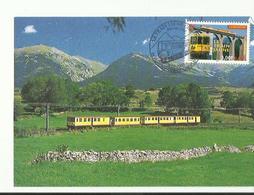 Carte Maximum Premier Jour  66 Villefranche De Conflent 2000  Le Train Jaune - 2000-09