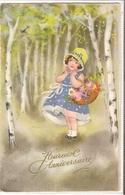 K 1480  OLD  FANTASY  POSTCARD   , CHILDREN , GREETINGS - Sin Clasificación
