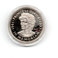 LIBERIA 5 DOLLARS 1997 CN DIANA 1961-1997 DAMAGE ONLY ON CAPSEL - Liberia