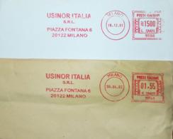 Italy, Iron And Metals - Meter Cancel - Usinor Italia - Fabbriche E Imprese
