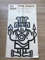 AFFICHE POSTER  ( 83 CM X 46 CM ) DON QUIJOTE PELIKAN 1967 VILZLIPUTZLI BIELEFELD SPIELKARTEN MUSEUM JEU DE CARTES - Affiches