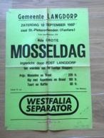 AFFICHE POSTER  GEMEENTE LANGDORP 61 CM X 42 CM  1988 MOSSELDAG WESTFALIA SEPARATOR AARSCHOT AERSCHOT - Affiches