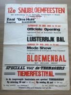 AFFICHE POSTER BAARDEGEM 73 CM X 52 CM SNIJBLOEMFEESTEN 1965 - Affiches