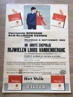 AFFICHE POSTER BREDENE BREEDENE 1966 SAS SLIJKENS BELGA GOOSSENS BRUXELLES VERSCHAETE BISSEGEM  72 X 53 - Affiches
