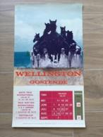 AFFICHE POSTER OOSTENDE OSTENDE  1984 WELLINGTON HIPPODROOM 60 X 34 - Affiches