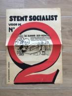 AFFICHE POSTER STEM SOCIALIST DETAVERNIER MEENEN MENEN MENIN 42 X 31 ( SCHEURTJES OP RANDEN ) - Affiches