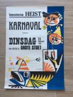 AFFICHE POSTER HEIST HEYST KARNAVAL CARNAVAL 1964 LEYSEELE GHYSSAERT 50 CM X 36 CM - Affiches