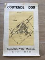 AFFICHE POSTER OOSTENDE OSTENDE 1969 KONINKLIJKE VILLA 55 X 36 - Affiches